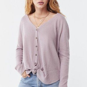 Out From Under Jojo Oversized Thermal Button Down